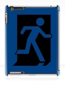 Running Man Exit Sign Apple iPad Tablet Case 160