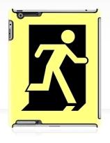Running Man Exit Sign Apple iPad Tablet Case 162