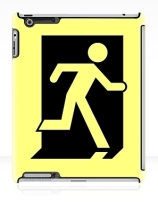 Running Man Exit Sign Apple iPad Tablet Case 162
