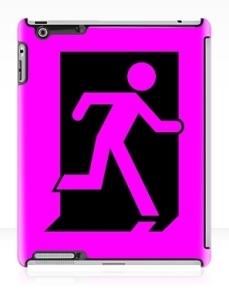 Running Man Exit Sign Apple iPad Tablet Case 163