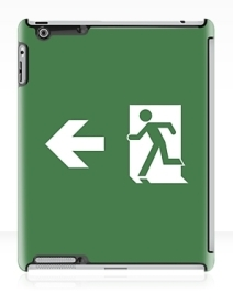 Running Man Exit Sign Apple iPad Tablet Case 164