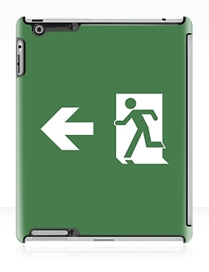 Running Man Exit Sign Apple iPad Tablet Case 164