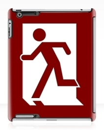 Running Man Exit Sign Apple iPad Tablet Case 18