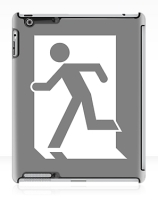Running Man Exit Sign Apple iPad Tablet Case 19