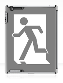 Running Man Exit Sign Apple iPad Tablet Case 19
