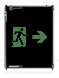 Running Man Exit Sign Apple iPad Tablet Case 2
