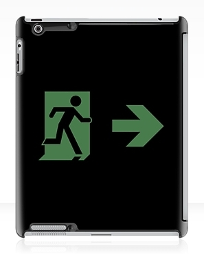 Running Man Exit Sign Apple iPad Tablet Case 2