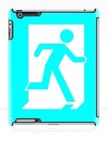 Running Man Exit Sign Apple iPad Tablet Case 20