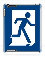 Running Man Exit Sign Apple iPad Tablet Case 21