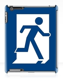 Running Man Exit Sign Apple iPad Tablet Case 21