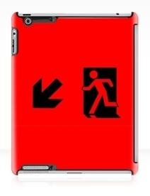 Running Man Exit Sign Apple iPad Tablet Case 22