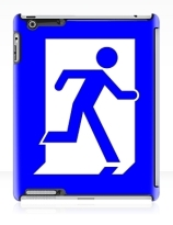 Running Man Exit Sign Apple iPad Tablet Case 23