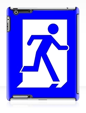 Running Man Exit Sign Apple iPad Tablet Case 23