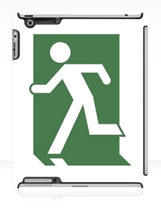 Running Man Exit Sign Apple iPad Tablet Case 24