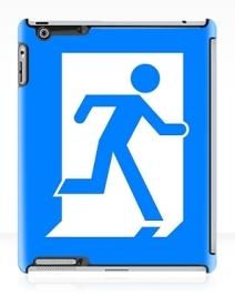 Running Man Exit Sign Apple iPad Tablet Case 25