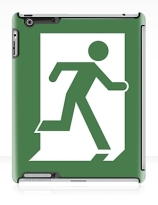 Running Man Exit Sign Apple iPad Tablet Case 26