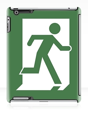 Running Man Exit Sign Apple iPad Tablet Case 26