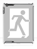 Running Man Exit Sign Apple iPad Tablet Case 27