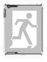 Running Man Exit Sign Apple iPad Tablet Case 27
