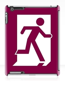 Running Man Exit Sign Apple iPad Tablet Case 28