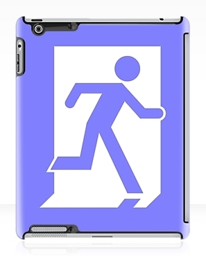Running Man Exit Sign Apple iPad Tablet Case 29