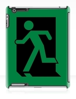 Running Man Exit Sign Apple iPad Tablet Case 3