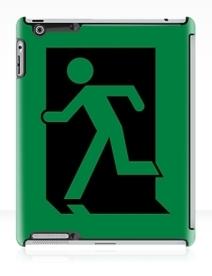 Running Man Exit Sign Apple iPad Tablet Case 3