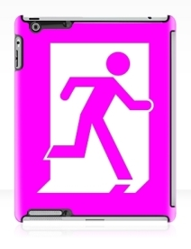 Running Man Exit Sign Apple iPad Tablet Case 30