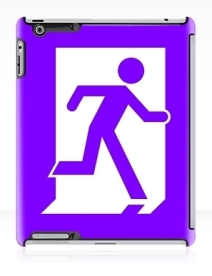 Running Man Exit Sign Apple iPad Tablet Case 32