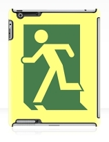 Running Man Exit Sign Apple iPad Tablet Case 33
