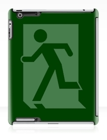 Running Man Exit Sign Apple iPad Tablet Case 34