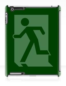 Running Man Exit Sign Apple iPad Tablet Case 34