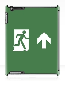 Running Man Exit Sign Apple iPad Tablet Case 35