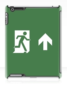 Running Man Exit Sign Apple iPad Tablet Case 35