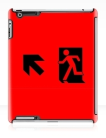 Running Man Exit Sign Apple iPad Tablet Case 36