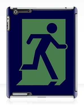 Running Man Exit Sign Apple iPad Tablet Case 37