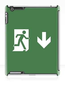 Running Man Exit Sign Apple iPad Tablet Case 38