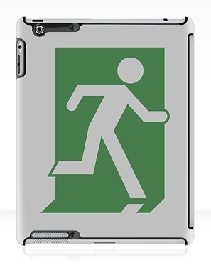 Running Man Exit Sign Apple iPad Tablet Case 39
