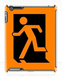 Running Man Exit Sign Apple iPad Tablet Case 4
