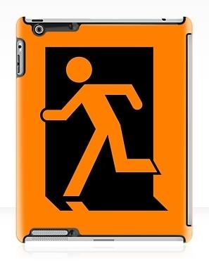 Running Man Exit Sign Apple iPad Tablet Case 4
