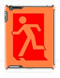 Running Man Exit Sign Apple iPad Tablet Case 40