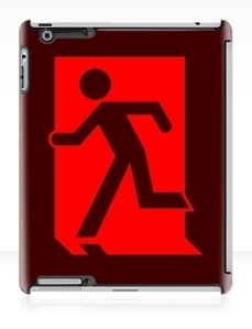 Running Man Exit Sign Apple iPad Tablet Case 41