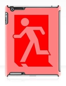 Running Man Exit Sign Apple iPad Tablet Case 42