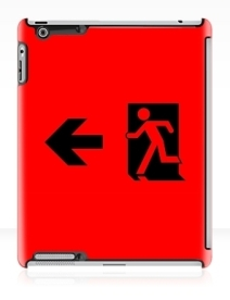 Running Man Exit Sign Apple iPad Tablet Case 43