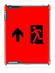 Running Man Exit Sign Apple iPad Tablet Case 44