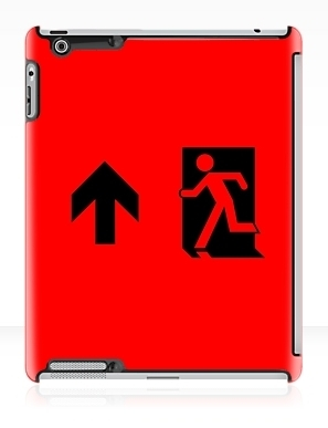 Running Man Exit Sign Apple iPad Tablet Case 44