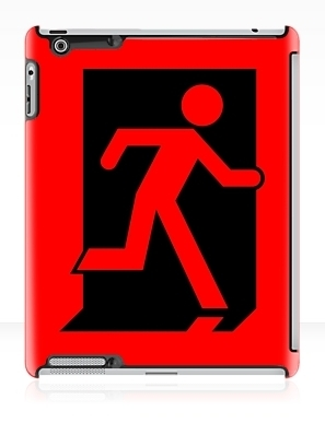 Running Man Exit Sign Apple iPad Tablet Case 45