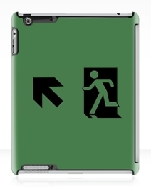 Running Man Exit Sign Apple iPad Tablet Case 46