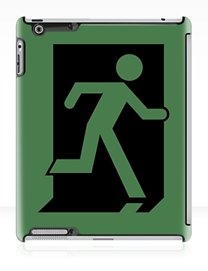 Running Man Exit Sign Apple iPad Tablet Case 47