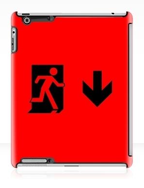 Running Man Exit Sign Apple iPad Tablet Case 48